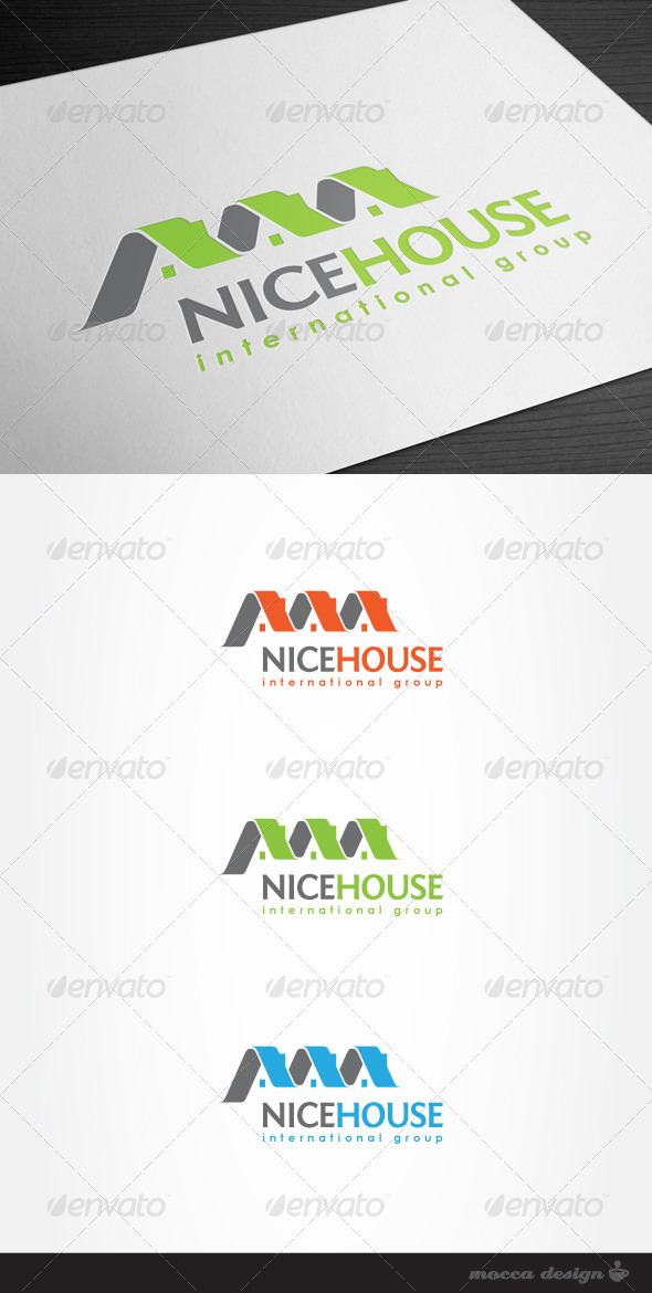 Nice House Logo - Buildings Logo Templates
