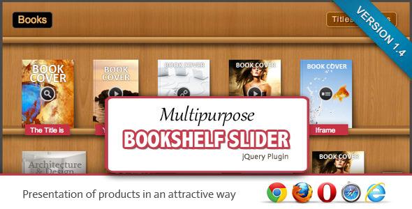 CodeCanyon Multipurpose Bookshelf Slider jQuery Plugin 1985655