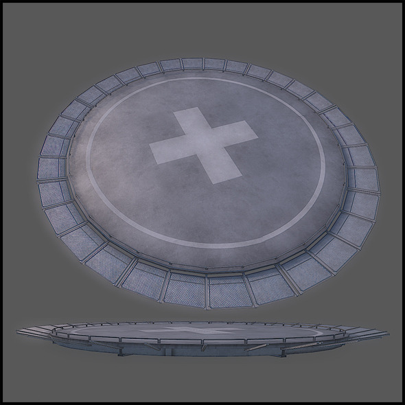 Helicopter Pad - 3DOcean Item for Sale