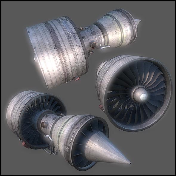 3DOcean Aircraft Open Turbine 2925819