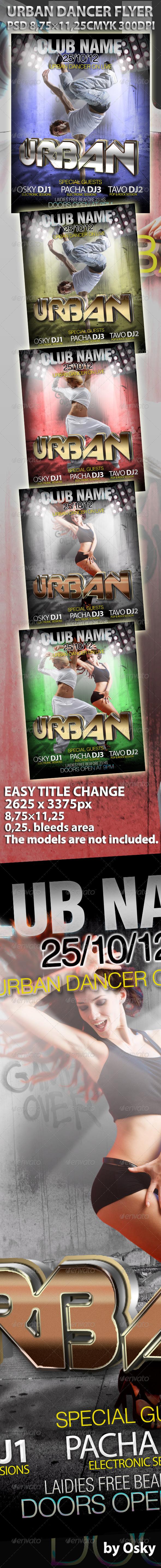 GraphicRiver Urban Dancer Flyer 306181