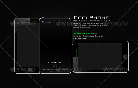 Graphic River CoolPhone Smart Touch Mobile Phone Graphics -  Product Mock-Ups  Technology 303698