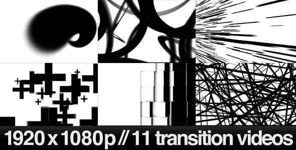 11 HD Transitions Bundle D