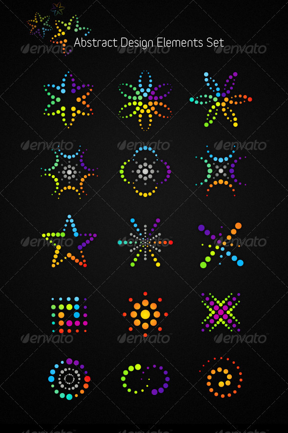 GraphicRiver Abstract Vector Design Elements Set 306379