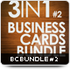 3in1 Business Cards Bundle #2 - GraphicRiver Item for Sale