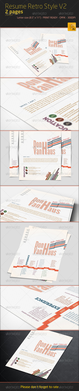Professional Resume - Retro Style V2