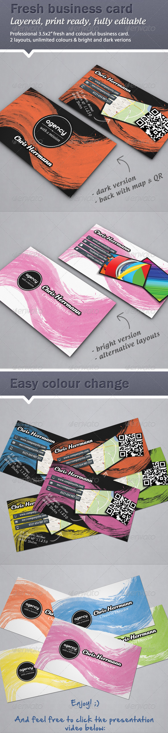Colorful Fresh Business card