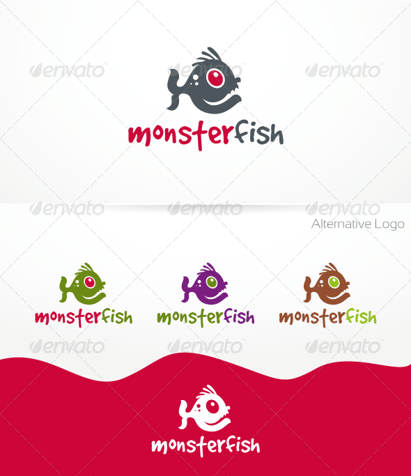 MonsterFish Logo Template - Animals Logo Templates