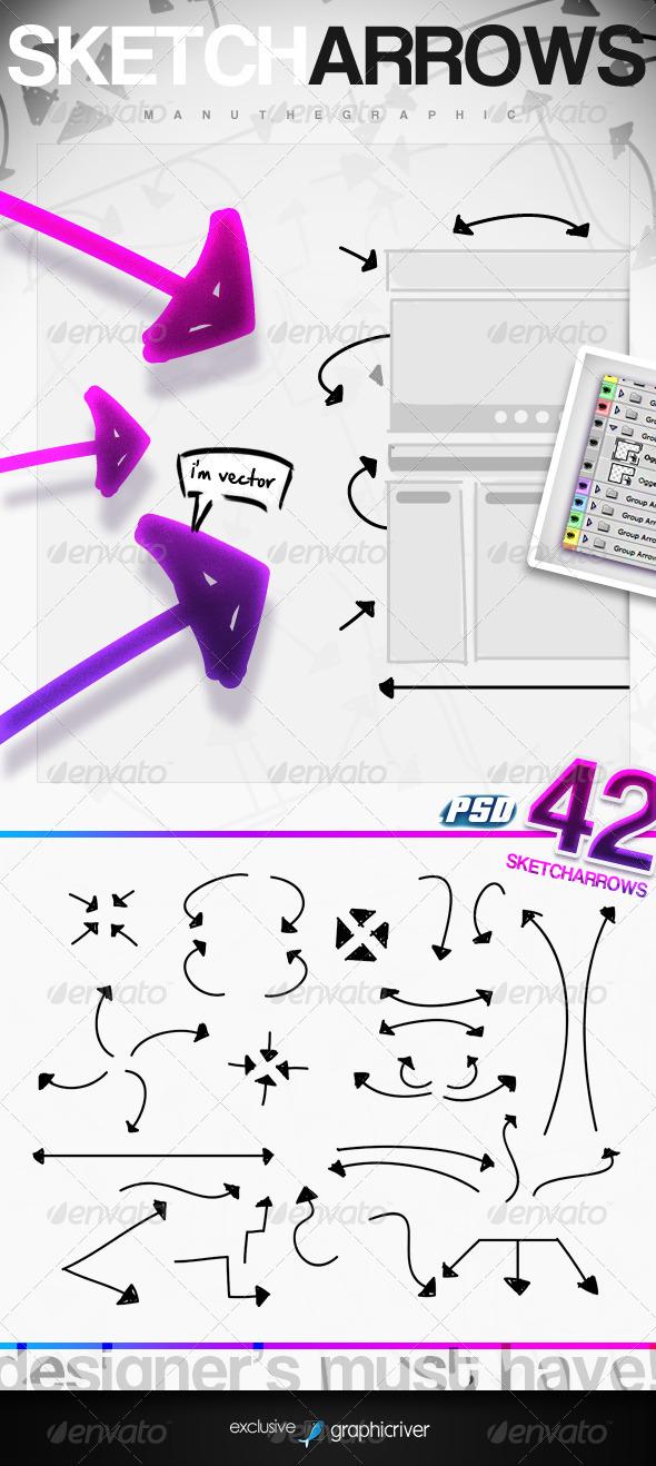 GraphicRiver Sketch Arrows 306479