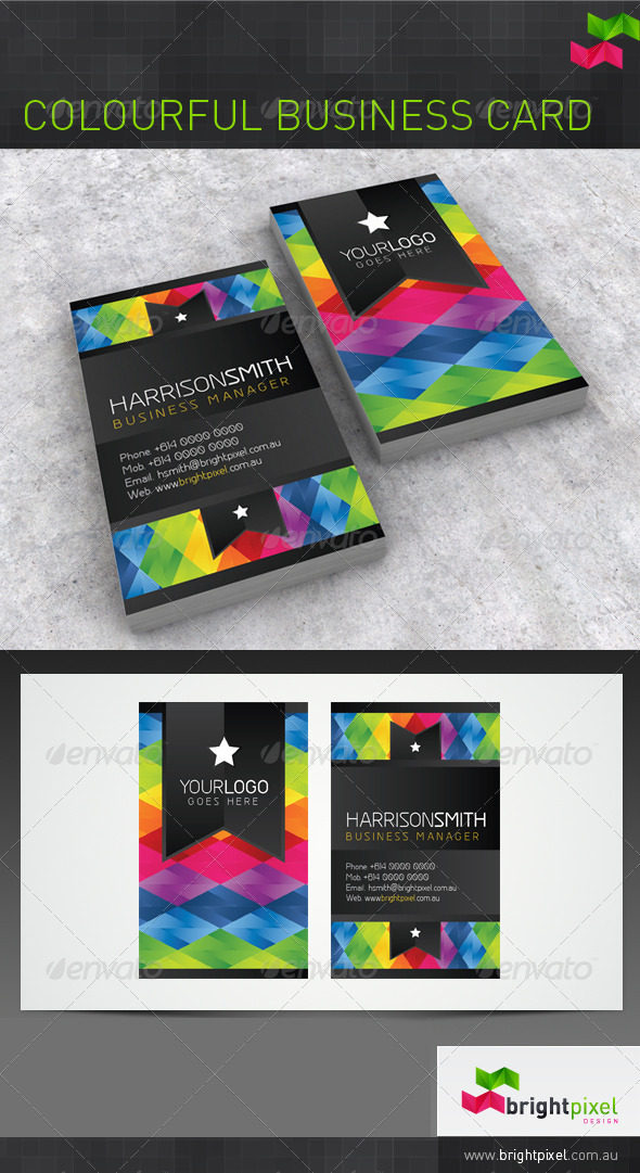 Colourful Business Card - Creative Business Cards