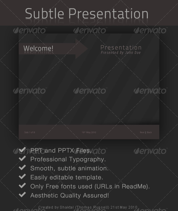 Subtle, Professional Presentation - Powerpoint Templates Presentation Templates