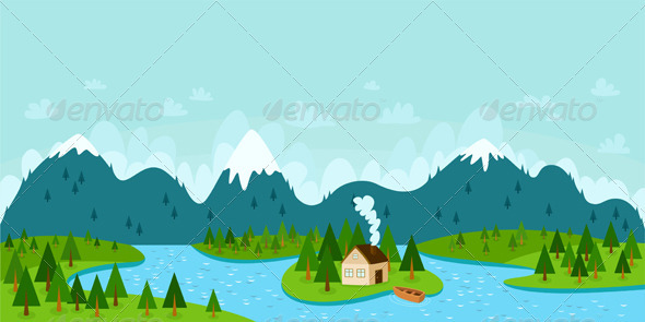 GraphicRiver Mountain Landscape 2929540