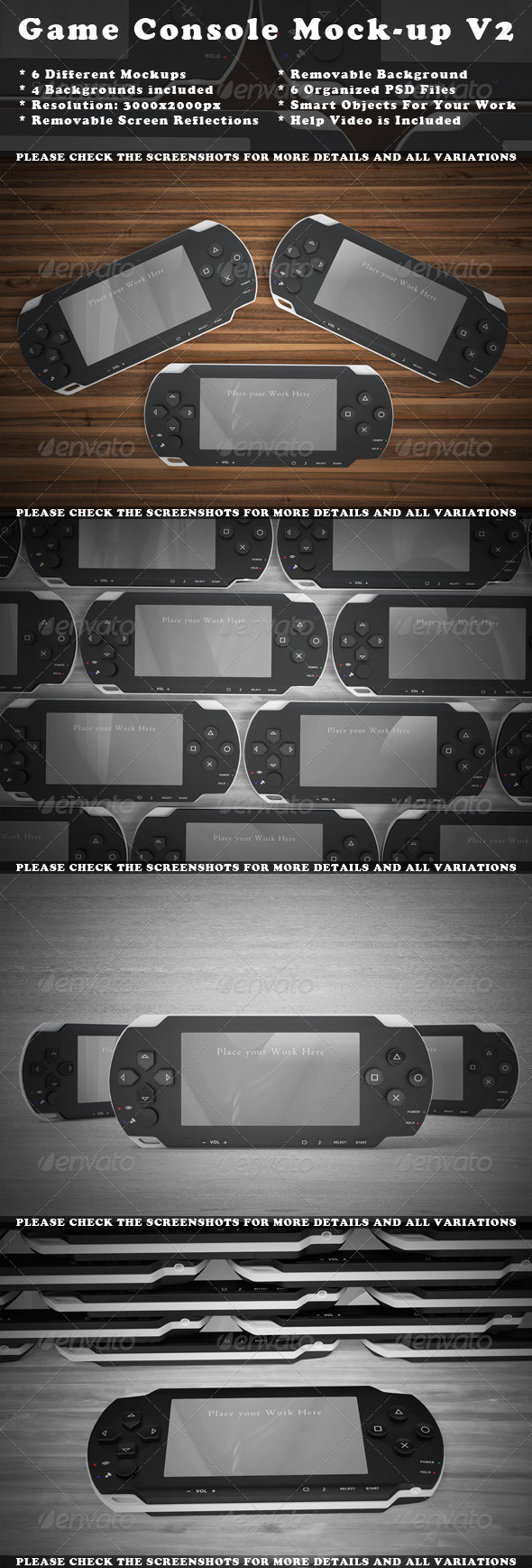 Game Console Mock-Up - Mobile Displays