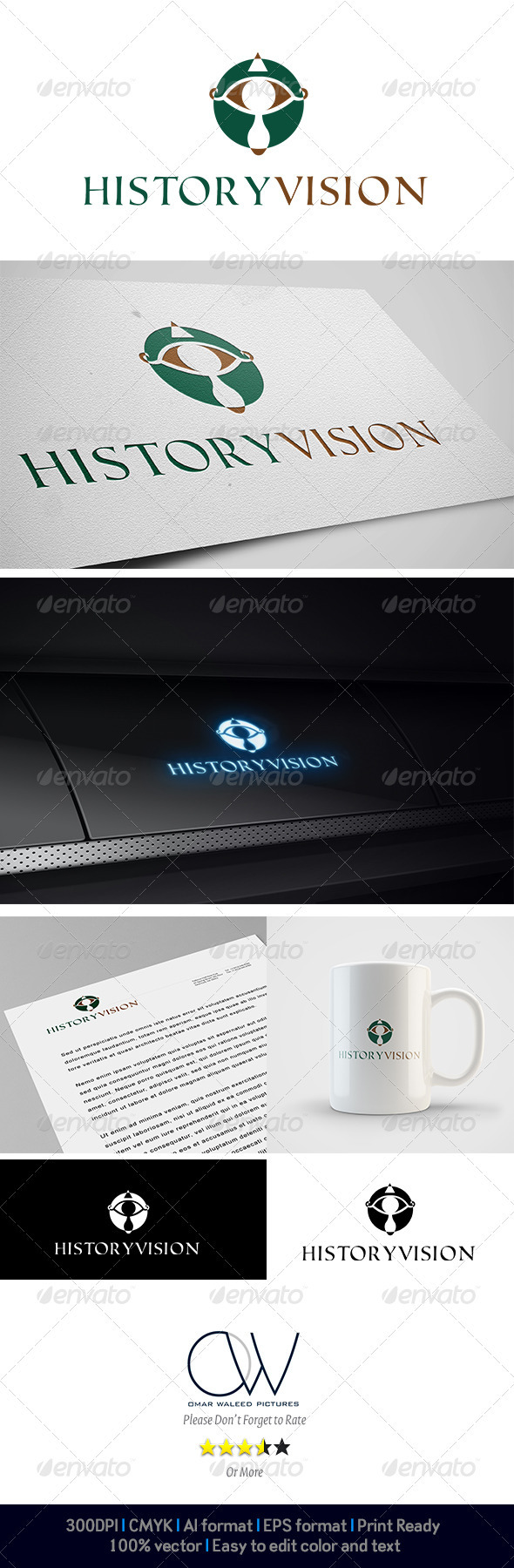 History Vision Logo - Abstract Logo Templates