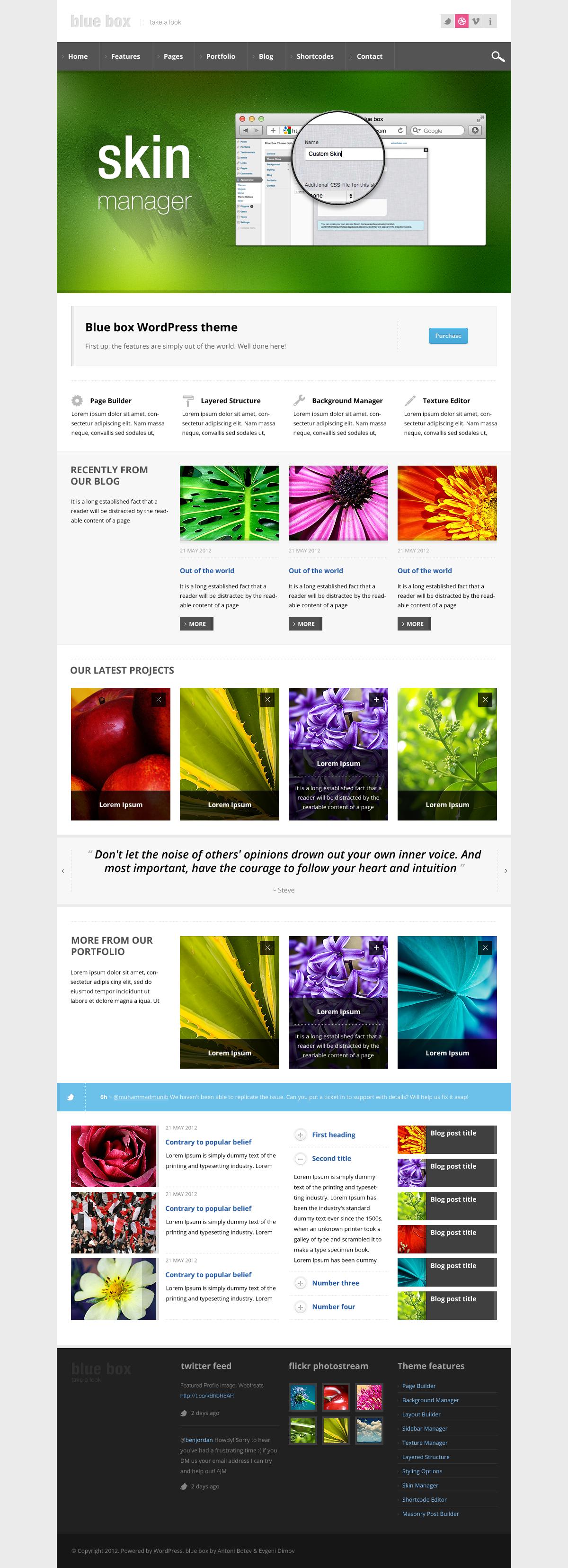 Blue Box WordPress Theme - Business Framework