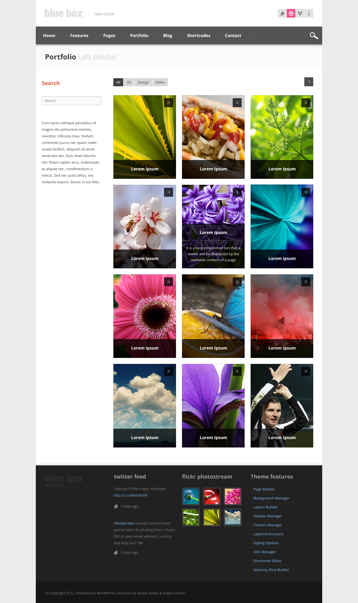 Blue Box WordPress Theme - Business Framework