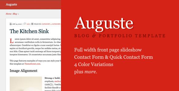 Auguste HTML Premium Site Template - Auguste - HTML Premium Site Template