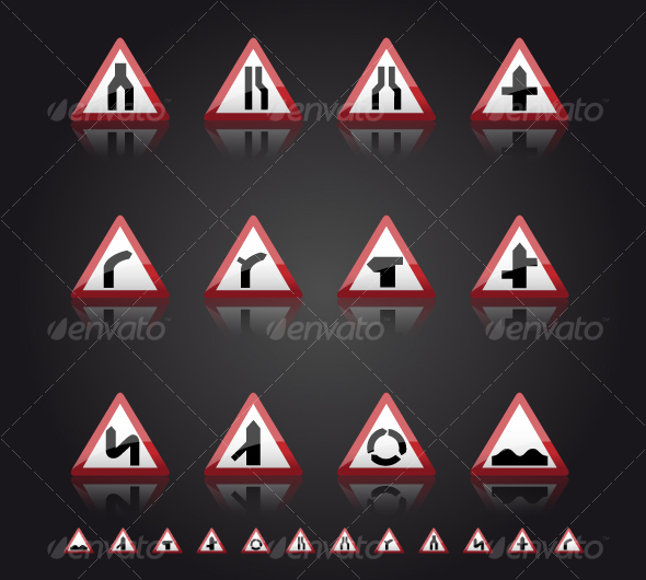 GraphicRiver UK Road Signs Warnings 1 57362