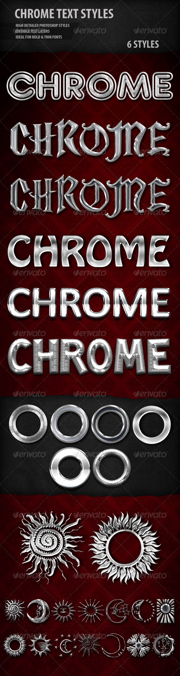 Chrome Text Styles - Styles Photoshop