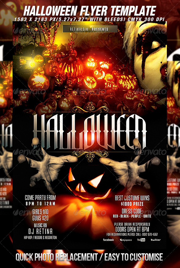 GraphicRiver Halloween Flyer Template 2932164
