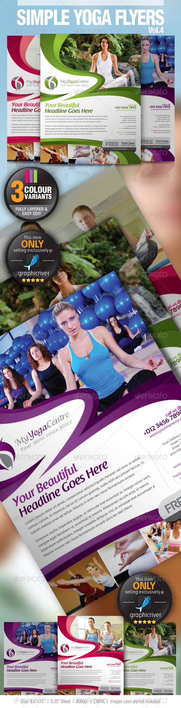 Simple Yoga Flyer Vol.4 - Commerce Flyers