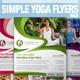 Simple Yoga Flyer Vol.4 - GraphicRiver Item for Sale