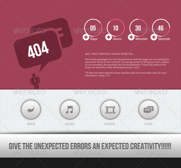 Wow !!! Another Error ..... - 404 Pages Web Elements