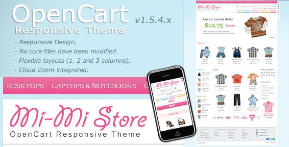 ThemeForest Mi-Mi Store OpenCart Premium Theme 2463177