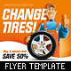 Car Tires / Car Service Flyer Template - GraphicRiver Item for Sale