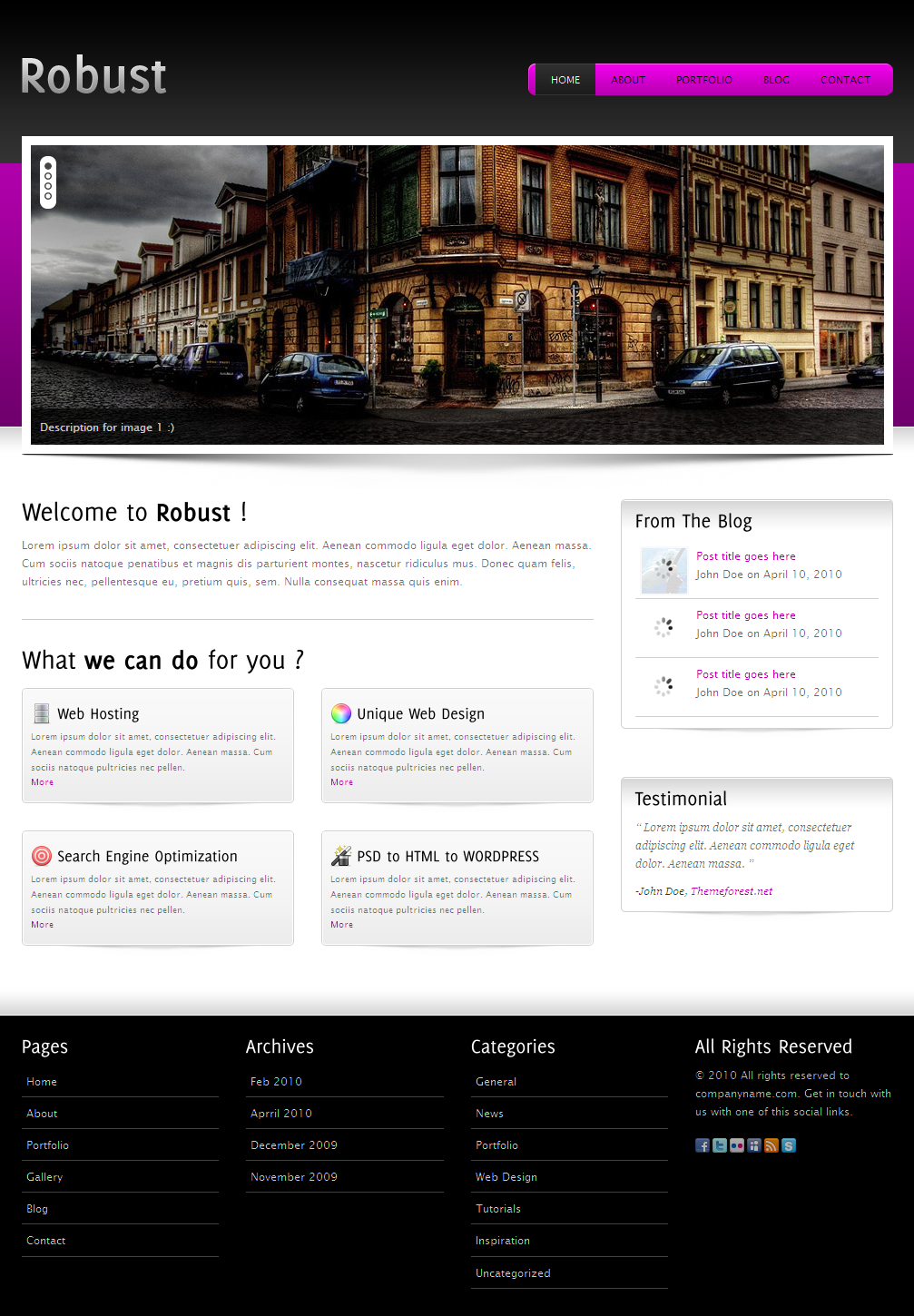 Robust-5 in 1 Business and Portfolio Template