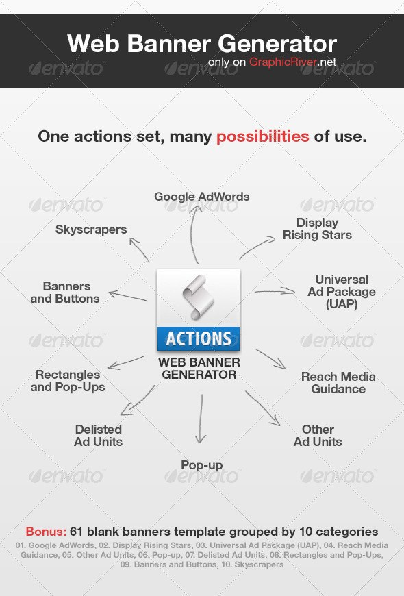 Web Banners Generator  - Utilities Actions