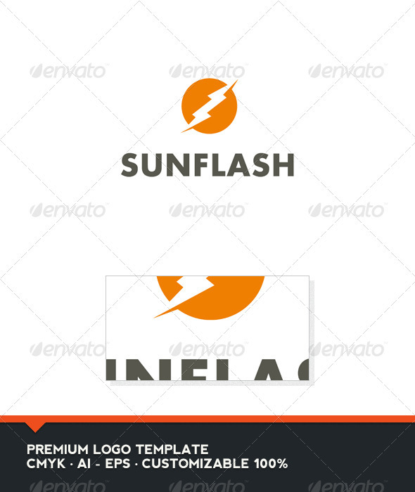 Sun Flash Logo Template - Nature Logo Templates