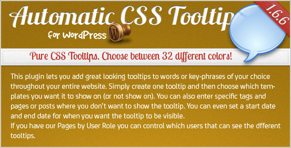 CodeCanyon Automatic CSS Tooltip for WordPress 180671