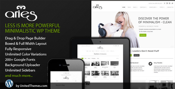 Aries Responsive Business WordPress Theme - ThemeForest Item for Sale