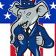 Republican Elephant Mascot Thumbs Up Shield - GraphicRiver Item for Sale