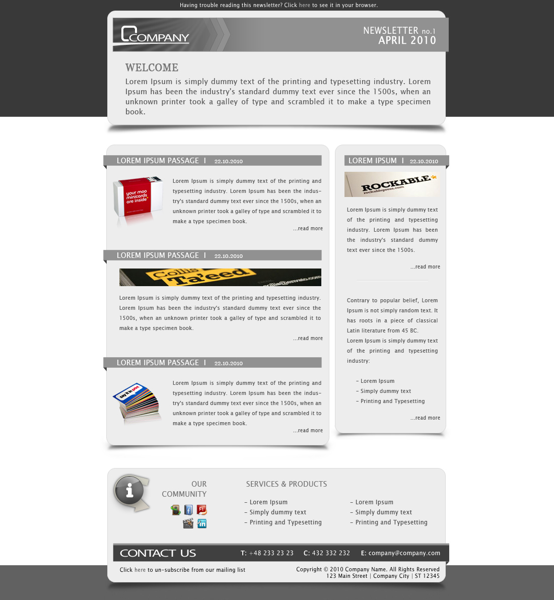 Company Newsletter - Email Template