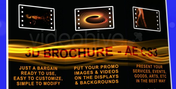 After Effects Project - VideoHive 3D BROCHURE FULL HD AE CS3 105042