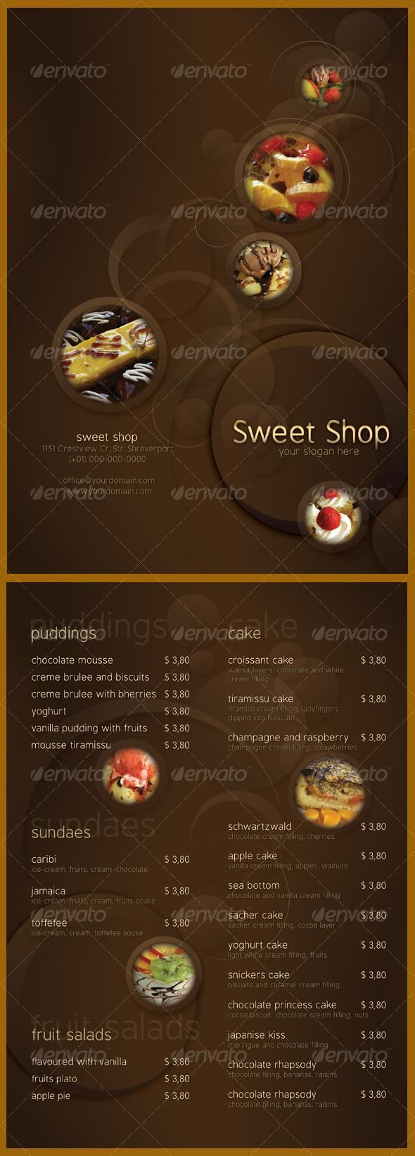 GraphicRiver Sweet Shop Menu 103977