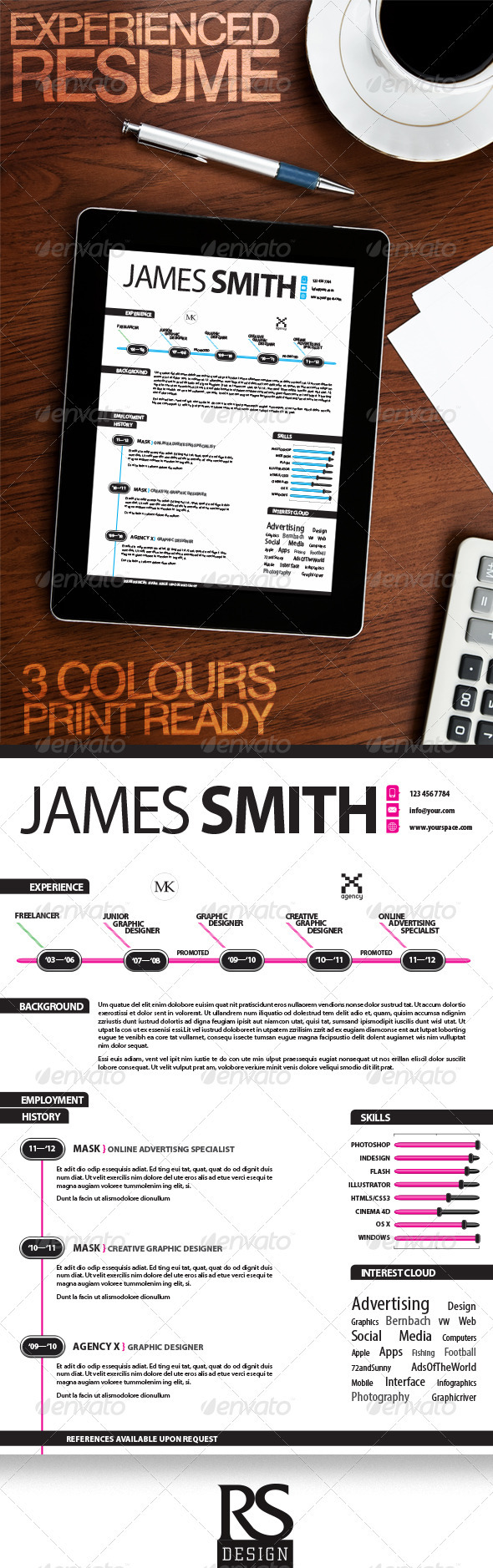 Experienced Infographic Resume - Resumes Stationery