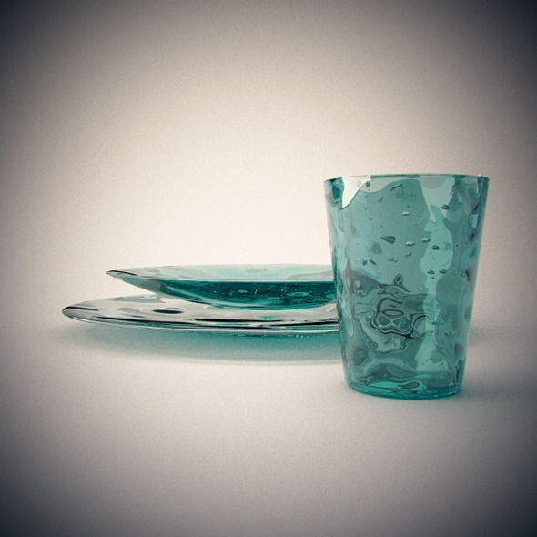 Realistic Blown Glass dishes and glass