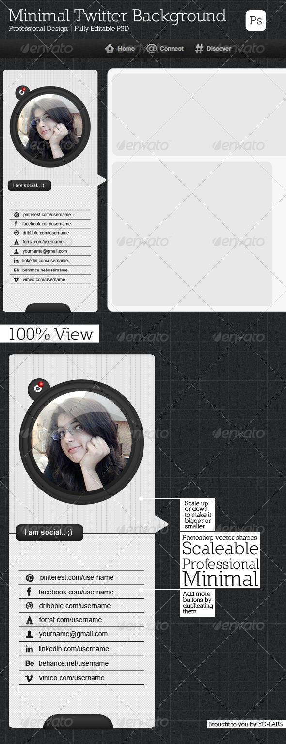 Minimal Twitter Background V3 - Twitter Social Media