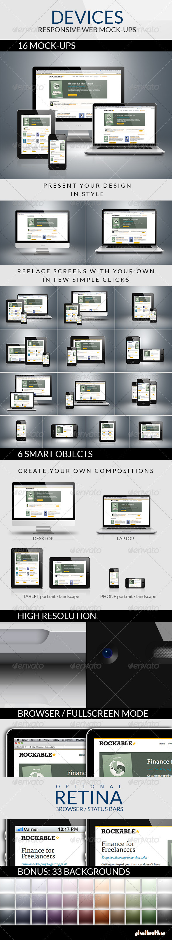 GraphicRiver Devices Responsive Web Mock-ups 2920264