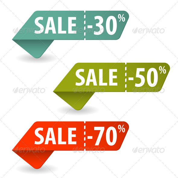 Collect Sale Signs - Web Elements Vectors