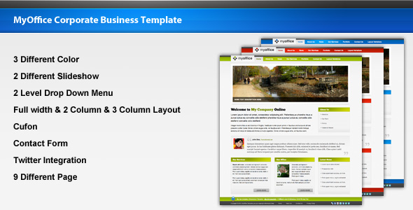 MyOffice Corporate Business Template - Preview
