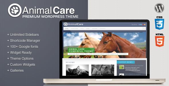 ThemeForest Animal Care Premium Wordpress Theme 2922909