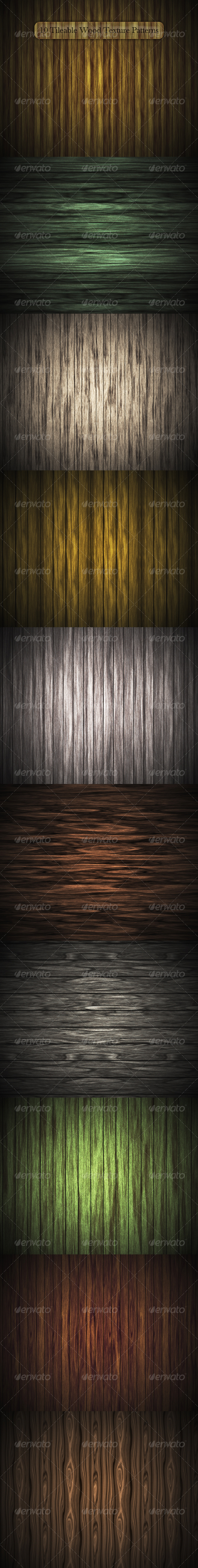 10 Tileable Wood Texture Patterns - Textures / Fills / Patterns Photoshop