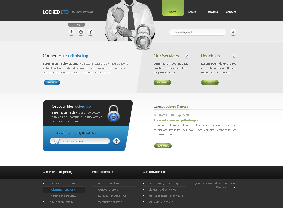 Locked LTD - Corporate Web Design