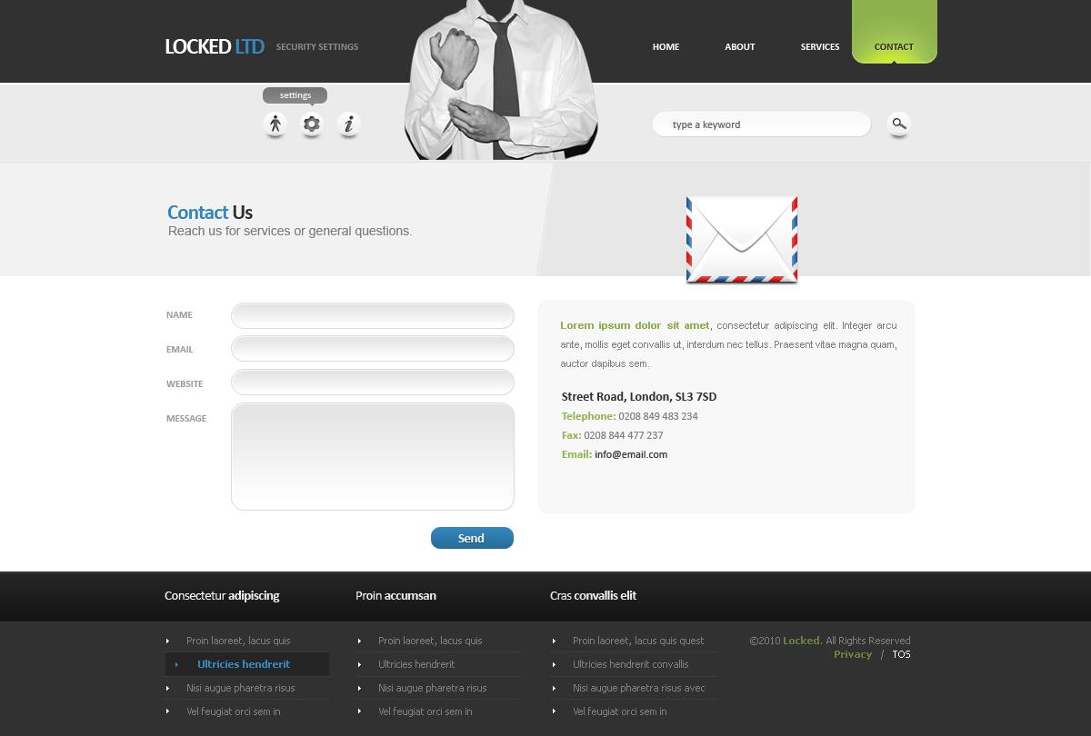 Locked LTD - Corporate Web Design