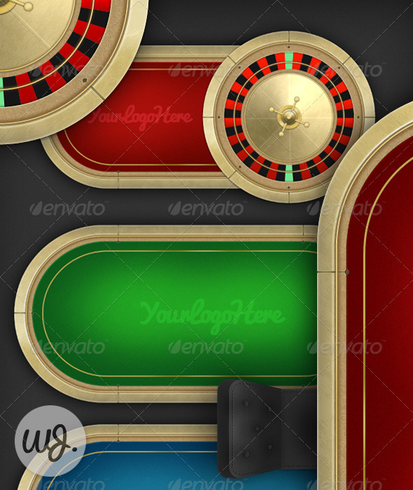 Casino Table Pack - Objects Illustrations