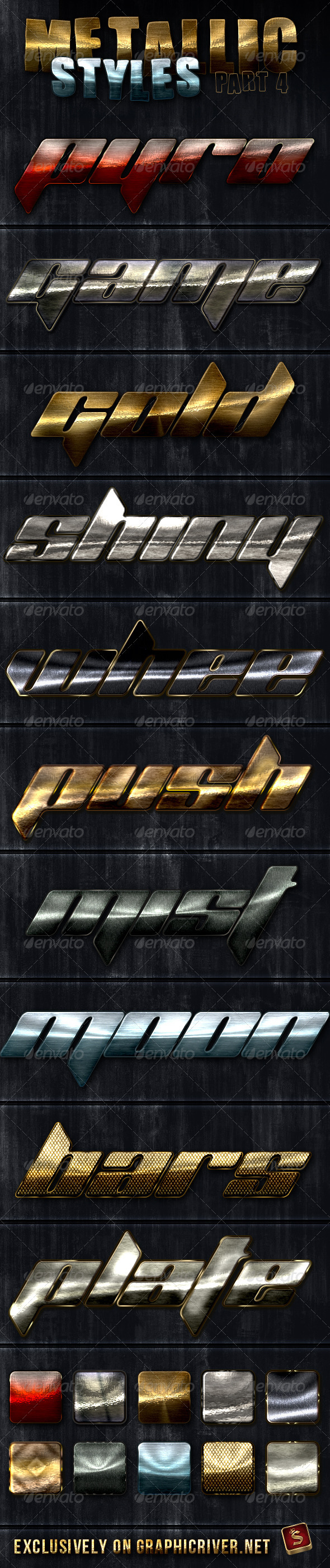 GraphicRiver Unique Metallic Styles Part 4 2938472